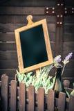 Wooden chalkboard Stock Photos