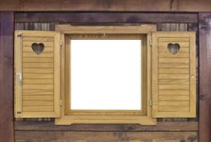 Wooden Challet Window Stock Images