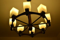 Wooden chandelier Stock Photography