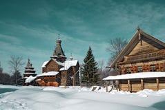 Wooden chapel Stock Image