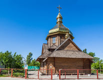 Wooden chapel of the Blessed Virgin Greek Catholic Church in Kie Royalty Free Stock Image