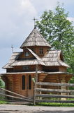 Wooden chapel church Stock Image