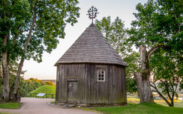 Wooden chapel on Kernave mound. Ancient Lithuanian place Stock Photography