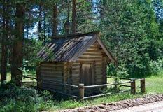 Wooden chapel ofKirik and Ulitka, Royalty Free Stock Photos