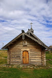 Wooden chapel on Solovki in Russia Stock Photos