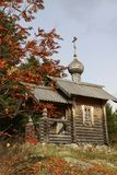 The wooden chapel. In village Stock Images