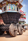 Wooden chariots in India Royalty Free Stock Photo