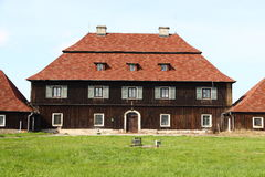 Wooden chateau Stock Photo