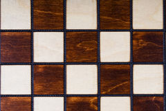 Wooden checkerboard background stock photography