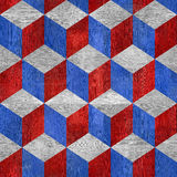 Wooden checkered pattern - seamless background - red-blue USA Colors Royalty Free Stock Images