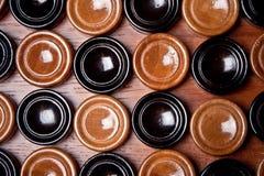 Wooden Checkers Stock Photos