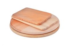 Wooden cheese board Stock Photo