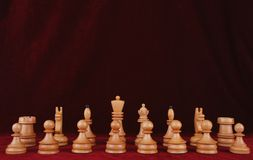 Wooden chess Royalty Free Stock Images