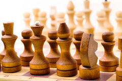 Wooden chess Stock Photography