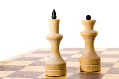 Wooden chess Stock Image