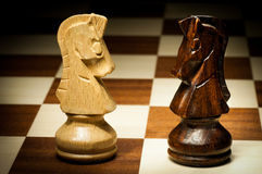 Wooden chess Royalty Free Stock Photography