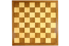 Wooden chess board. An old wooden chess board Royalty Free Stock Photos