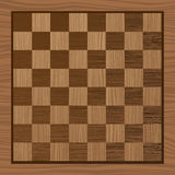 Wooden chess board Stock Photography