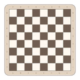 Wooden chess board. stock illustration