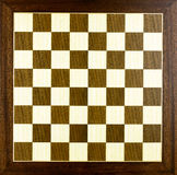 Wooden chess board Stock Image