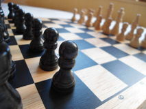 Wooden chess board Royalty Free Stock Photo