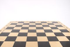 Wooden chess board Royalty Free Stock Image