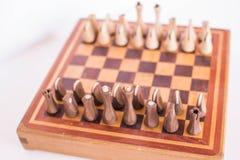 Wooden chess Boeard. stock image