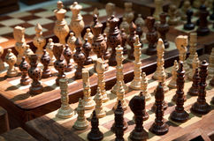 Wooden chess at market Stock Photography