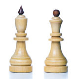 Wooden chess-men Stock Photography