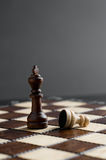 Wooden chess piece. Studio shot royalty free stock image