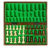 Wooden chess pieces Royalty Free Stock Image