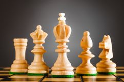 Wooden chess pieces Royalty Free Stock Photos