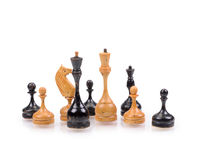 Wooden Chess Pieces Royalty Free Stock Photo