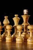 Wooden Chess Pieces Stock Photography