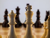 Wooden Chess Pieces Stock Image