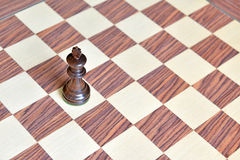 Wooden Chess pieces on Chessboard. Wooden Chess pieces on wooden rosewood Chessboard Stock Photos