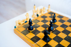 Wooden chess set Stock Image