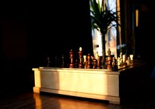 Wooden chess set. Stock Photography