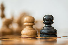 Wooden chess. Royalty Free Stock Photography