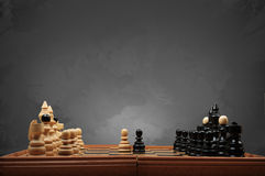 Wooden Chessboard Royalty Free Stock Photos