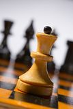 Wooden chessboard Stock Images