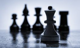 Wooden chessboard Stock Photos