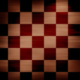 Wooden chessboard. In different shades of brown Stock Photo