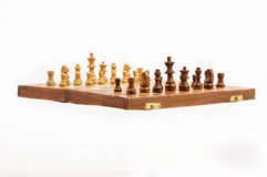 Wooden chessboard. Stock Photo