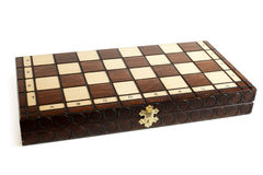 Wooden chessboard Stock Image