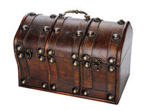 Wooden chest. Stock Photos