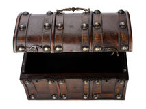 Wooden chest. Royalty Free Stock Photography