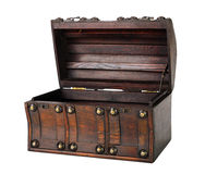 Wooden chest. Stock Photo