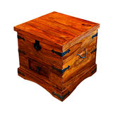 Wooden chest angle Royalty Free Stock Image