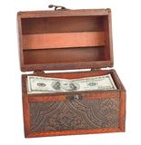 Wooden chest with dollars Royalty Free Stock Photos